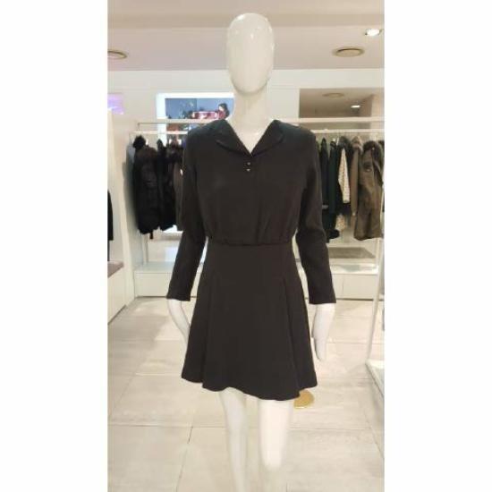 タプゴルAラインしわワンピースTGDBOP932F 面ワンピース/ 韓国ファッション
