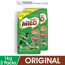 NESTLÉ MILO ACTIV-GO CHOCOLATE MALT POWDER Soft Pack 1kg x2 packs