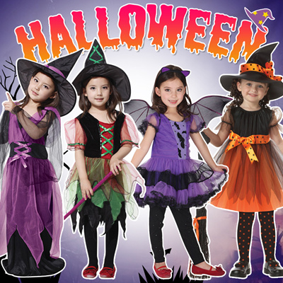 ae646c17a Halloween Costume for Kids Vampire Witch Princess Evil Queen Carnival Girl  Boy Fancy Dress Costume