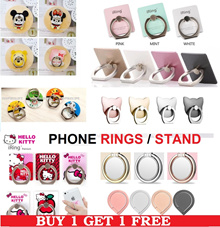 {CHEAPEST QOO10}*[BUY 1 FREE 1] Smart Mobile Phone Ring Holder iRing Movie Stand Tablet Holder