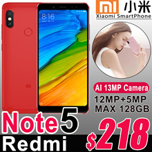 Xiaomi Redmi Note 5 4GB RAM 64GB ROM SmartPhone Snapdragon 636 Octa Core 5.99 Full Screen 4000mAh