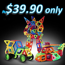 ★CHEAPEST IN QOO! NEXT DAY SHIPPING! Mag Pieces Build up Toys/Enhance Creativity Brain Development