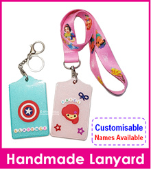 Customised Name Lanyard/Personalised Key Ring Tag/Bag Tag/Card Holder