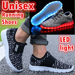 ▶Unisex running shoes /LED Light Luminous sports shoe kids and Adults◀USB charging/Casual dancing