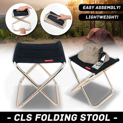 CLS Folding Stool - Easy to assemble outdoor camping chair portable