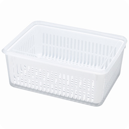 Doudou fruits and vegetables in the kitchen drain box, large square storage cassette cover refrigera