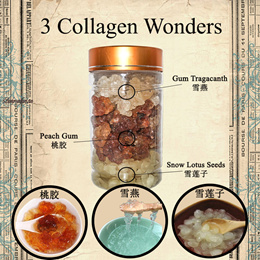 3 Collagen Wonders ! 桃胶,雪莲子,雪燕 !1 bottle for $19.90 only !