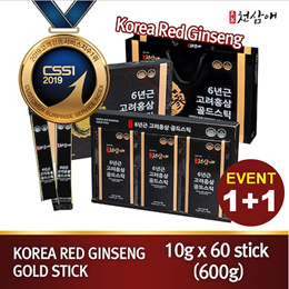 ⭐1+1 Event⭐Best Price!! Korea Red Ginseng 6Years Premium Stick(10gx30pouch) / Buy 1 Get 1 Free