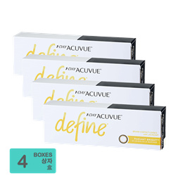 [Free Shipping] Johnson and Johnson 1-Day Acuvue Define Radiant Bright (30pcs/box) x4