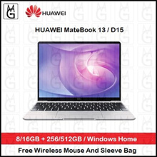 Huawei MateBook 13 / D15. Windows Home. 8/16GB+256/512GB. 2 Years Warranty By Huawei Singapore.