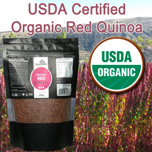 ★MAY SPECIAL! ★USDA Organic Certified High Quality Red Quinoa 500G