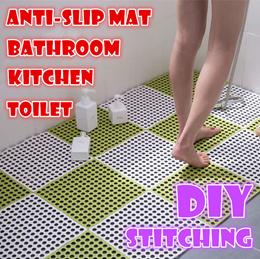 Korea fashion Anti Slip Floor Mat bathroom kitchen toilet DIY Stitching waterproof Safety for elder