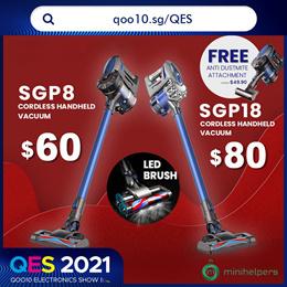 【FREE MITE PROMO!!】Minihelpers Trojan SGP8 19000PA | Cordless Handheld Vacuum| Flagship Model❗