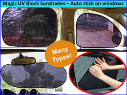 Magic Car Sunshade UV Block 99% Sunlight Foldable Sunshades for Car Side/front/rear Window