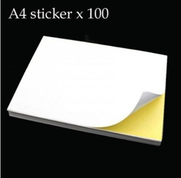 A4 Sticker Label (100 Sheets) self adhesive paper printing copy frosted /transparent /Matte surface