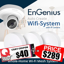 ENGENIUS EnMesh Unique Whole-Home Wi-Fi Mesh System with IP CAMERA Features! 3 Years Warranty