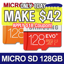 [MAKE $42]★Authentic Samsung Micro SDXC 128GB EVO / EVO Plus / Class 10 ★Micro SD Card Memory