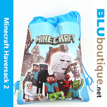 Minecraft haversack backpack goodies bag birthday bag