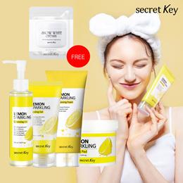 【Secret Key Official】Lemon Sparkling Peeling Gel/Cleansing Foam/Cleansing Oil/Peeling Pad