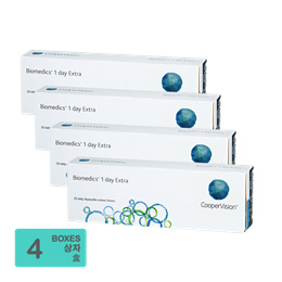 [Free Shipping] CooperVision Biomedics 1 day Extra (30pcs/box) x4