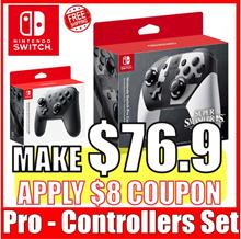 [Nintendo Switch] Nintendo Switch Pro Controller Set  (Black Super smash bros.)