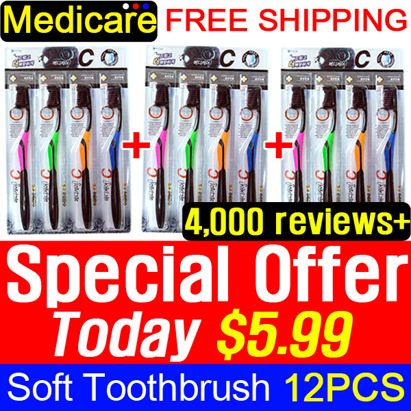 [Crazy Deal] ?7th RESTOCK? 1+1+1 Medicare Gold Charcoal Nano Toothbrush 4P / Nano Anti-Bacteria Deals for only S$59 instead of S$0