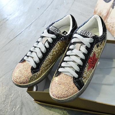 c19fd4cf7c discount 2018 Women Casual Shoes Glitter Leather Do Old Dirty Shoes Mixed  Color Women Sequins Star