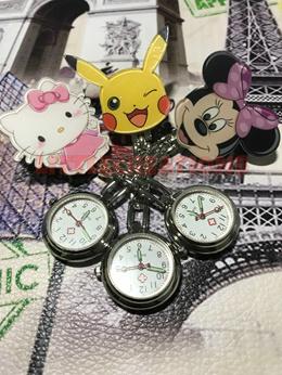 [ LOCAL SELLER ] Cartoon / Cute Nurses Watch / Pocket Watch / Clip-On Watch