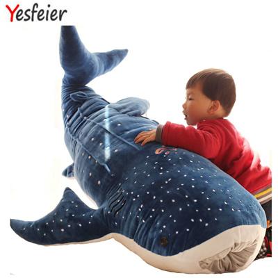 qoo10 50 100cm new style blue shark plush toys big fish cloth doll