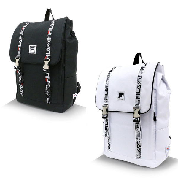 Qoo10 - FILA Fila Backpack   White   Black   Japan Shipping   Bag ...