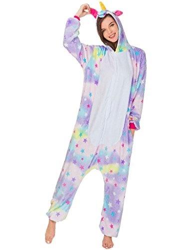 qqonsie Adult Onesie Unicorn Pajamas for Women Animal Cosplay Halloween Costumes
