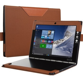 detailed look 5888b f1d65 Lenovo YOGA BOOK cover YB1-X90F/X91F leather hook 10.1-inch Tablet PC  leather Twill pattern-classic