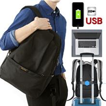 [Rurubag] USB Charger 15.6 Inch Laptop Backpacks Travel Backpacks Backpacks Men s Backpacks Women s