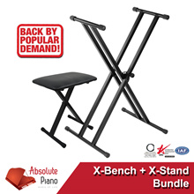 X-Stand and X-Bench Bundle | Keyboard Stand and Bench | Piano Stand | Keyboard Stand | Digital Piano