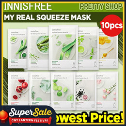 💝QOO10 LOWEST PRICE GUARANTEE💝 [INNISFREE] MY REAL SQUEEZE MASK 10PCS