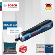 Qoo10 SPECIAL [Official E-Store] Bosch GO Cordless Screwdriver *Full set come with 33 piece set*