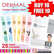 [Promotion Buy 10 Free 10] Dermal Collagen Essence Mask - 25 types available [Made in Korea]