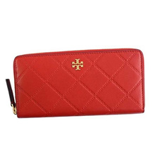 Tory Burch TORY BURCH / GEORGIA ZIP CONTINENTAL WALLET round wallet wallet # 39962 641 LIBERTY RED N..