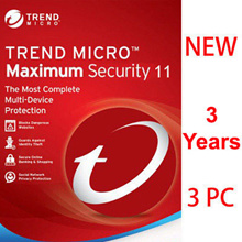 Trend Micro Titanium Maxmium Security 11 2018 - 3 YEAR 3 PC/Antivirus/internet security/ anti virus