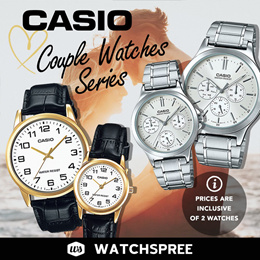 *APPLY SHOP COUPON* CASIO Couple Watch Sets for Men and Ladies. Comes in Pairs. 1 Year Warranty.