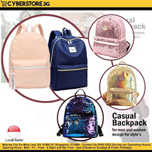 [Cyberstore.sg] Casual Ladies Backpacks || Trendy Laptop Messenger Bag || Laser Holographic Designs