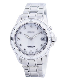 [Creation Watches] Seiko Sportura Kinetic Diamond Accent SKA881 SKA881P1 SKA881P Womens Watch