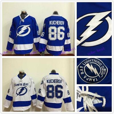 detailed look fe38f 211c7 #86 Nikita Kucherov Jersey Tampa Bay Lightning Hockey Jersey Home Blue With  Nikita Kucherov Hockey J