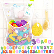 Childrens bathtub and bathing toy set English alphanumeric bathroom toy with large suction cup