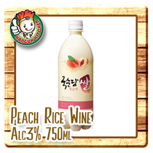 Peach Rice Wine Alc3% 750ml