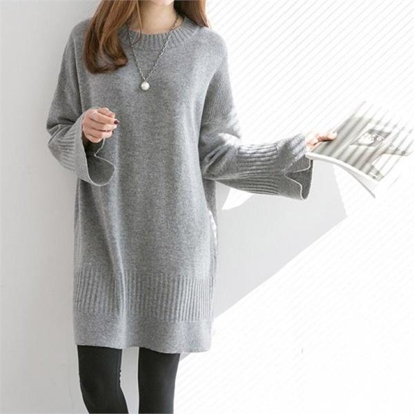 ピピンリブンダフリル小売ニット・ワンピース34834 ニットワンピース/ワンピース/韓国ファッション