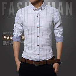 Spring Men s Fashion Casual Large Size Shirt Cotton Plaid Shirt