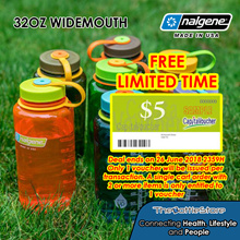 FREE $5 Capitaland Voucher | Nalgene® 32oz Widemouth Bottles - Made in USA - Warranty Covered