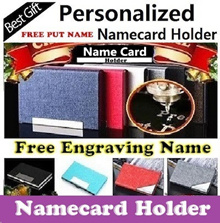 ★( SG Seller )★Free Engraving Name Namecard holder Personalized Business Name Card holder card case