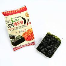 Kimchi Roasted Laver (12 / 24 Packets) Korean Seaweed Yaki nori Kimchi Nori